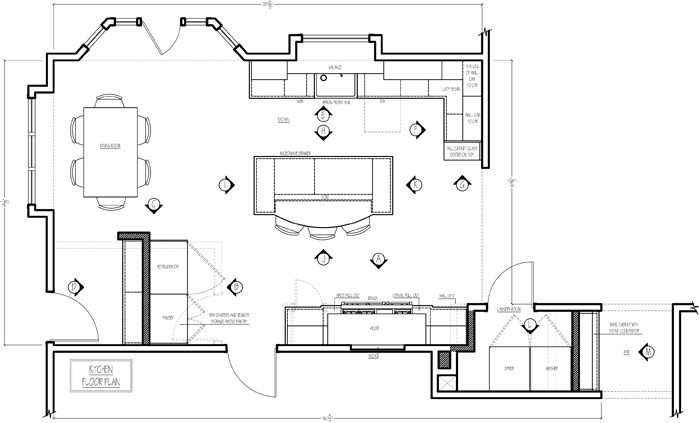 How to design the perfect kitchen floor plan drury design for Kitchen floor plans