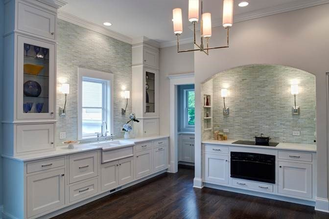 White Kitchen with Textured Backsplash
