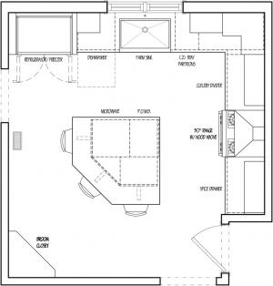 Efficient kitchen floor plans thefloors co for Most efficient kitchen design
