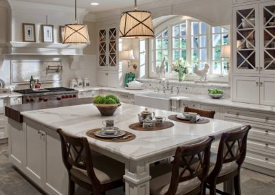 White and Warm Classic Traditional Kitchen