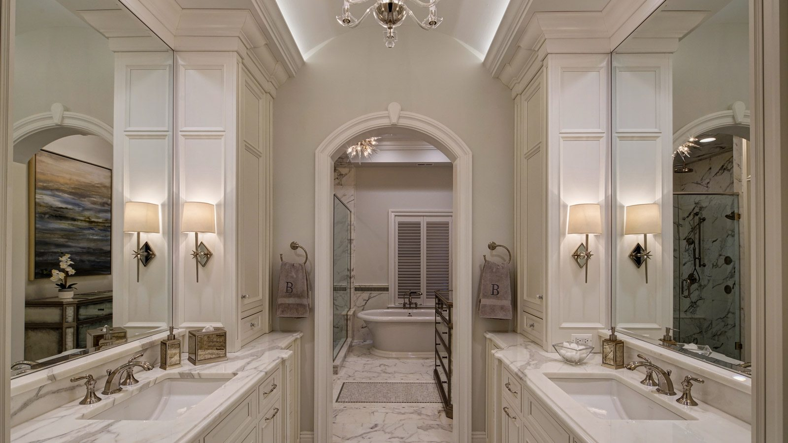 Chicago brownstone master bath remodel drury design Chicago bathroom remodeling
