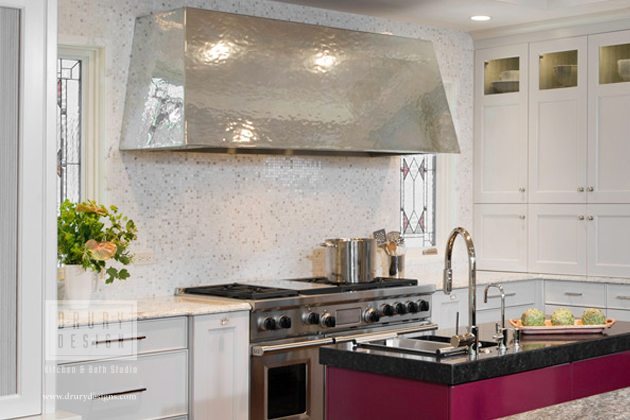 how is a kitchen hearth hood constructed