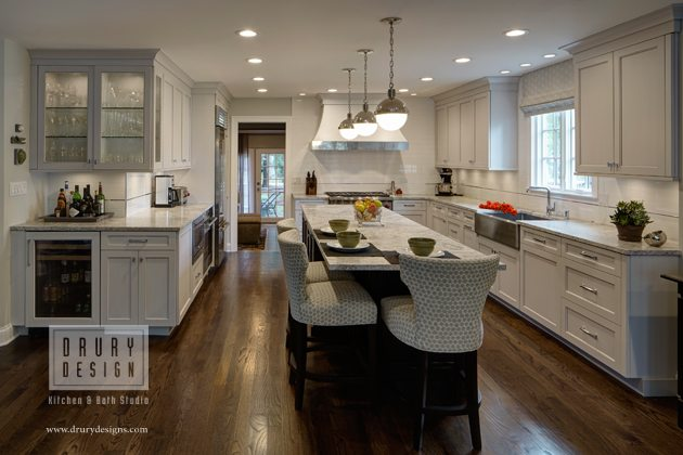 Open Concept L Shaped Kitchen Before And After Drury Design
