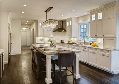 Ornate White Kitchen Remodel